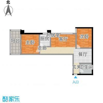 御笔华章103.15㎡A-P厨房、餐厅、客厅独立分布主次卧分区户型