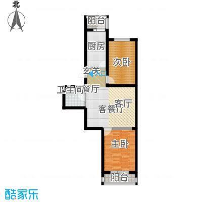 明城花园80.00㎡房型户型