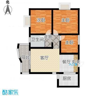 海德福苑户型3室1厅1卫1厨