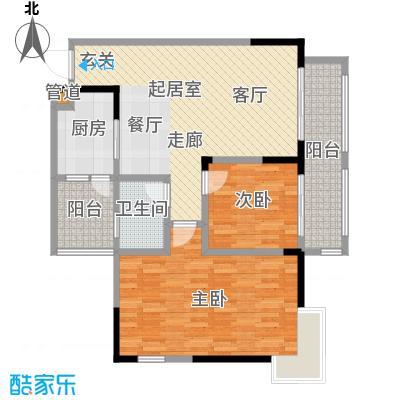 康田国际87.03㎡套内-户型