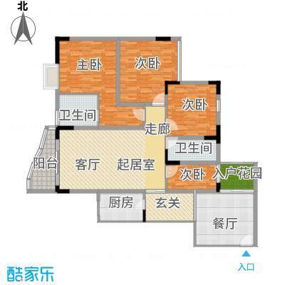 瑞丰华苑143.80㎡房型户型