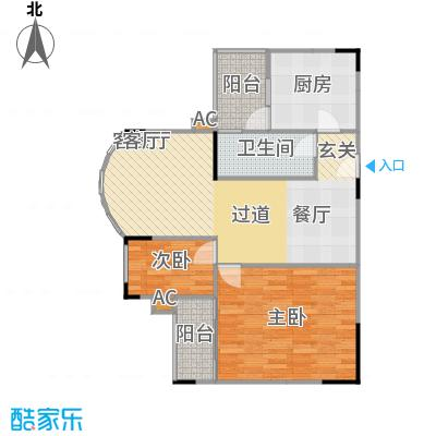 金科丽苑75.40㎡房型户型