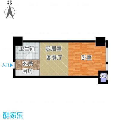 如意商务公寓49.00㎡G户型