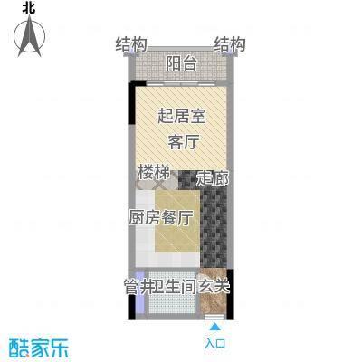 敏捷领航公馆51.00㎡B下层图户型