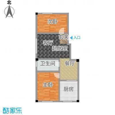 鹏辉裕景轩68.89㎡D户型