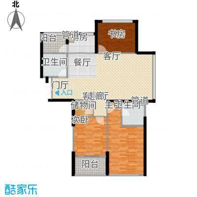 嘉联华铭座.宝善公寓128.00㎡房型户型