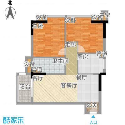 雅居乐君域公馆85.00㎡P户型