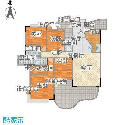 南海湖景湾174.24㎡32栋1座2-10层01单位平面图户型