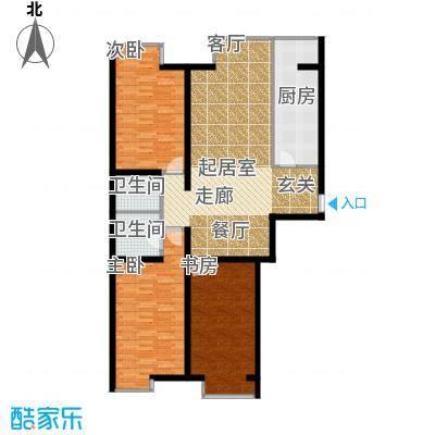 枫景名城户型3室2卫1厨