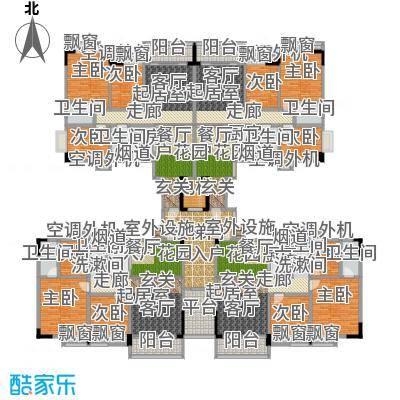 金叶阳光新城90.38㎡01/02户03/04户户型