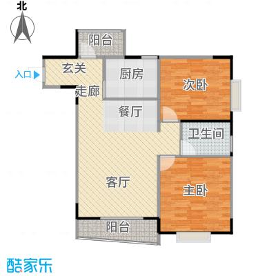 大川花园74.57㎡房型户型