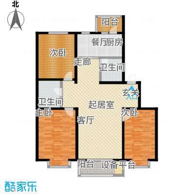 辰宇枫景瑞阁125.00㎡房型户型