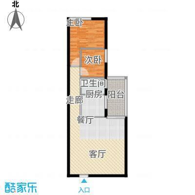 新新家园68.00㎡户型