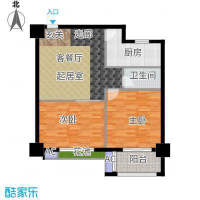 军城・港湾86.59㎡II公寓户型