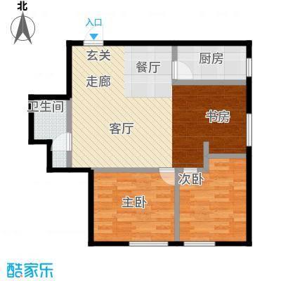 万丰王子公寓80.00㎡房型户型