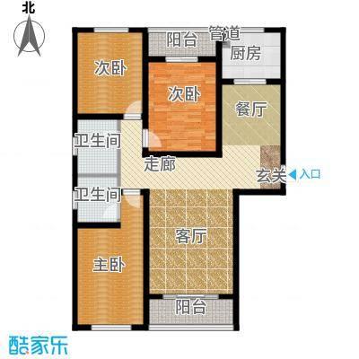 上城水岸户型3室1厅2卫1厨
