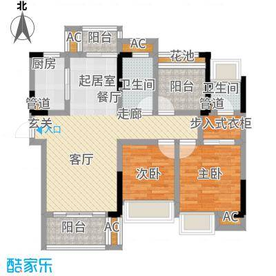 山水领寓90.00㎡1栋01/03A户型