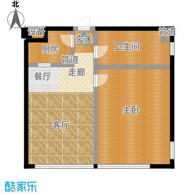 华兴彼得公寓76.27㎡户型