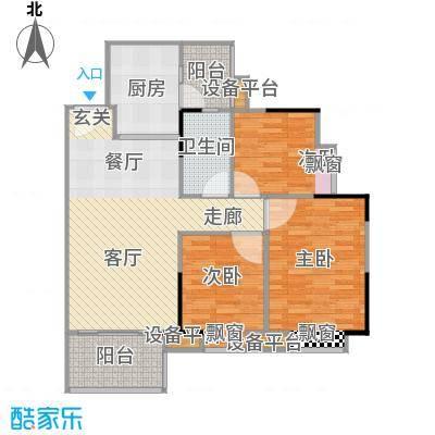江南新苑92.14㎡F5栋3-17、23-33层01单元户型