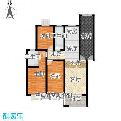 锦绣花园户型3室1厅2卫