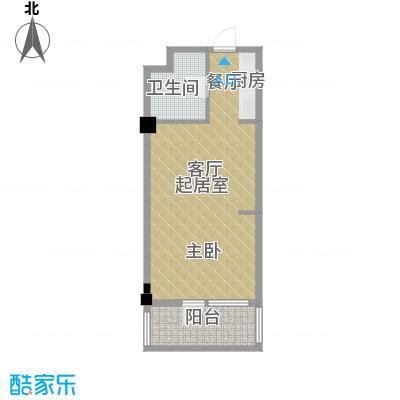 亚泰桂花苑53.00㎡迷你洋房42户型