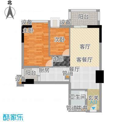 雅居乐君域公馆79.00㎡K户型