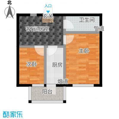鹏程上漾园51.92㎡B户型