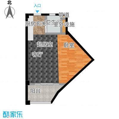 布利杰城南公馆46.00㎡c户型