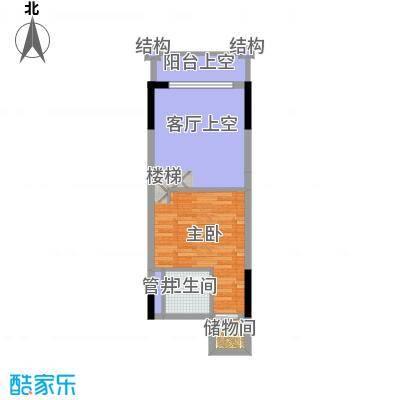敏捷领航公馆51.00㎡B上层图户型