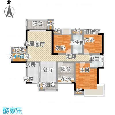 山水领寓113.00㎡2栋01户型