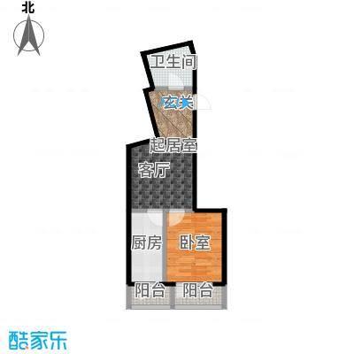 城市经典30.00㎡房型户型