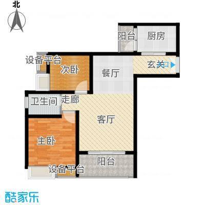 重庆金山美林61.72㎡一期1号楼标准层56号户型