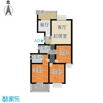 锦尚祥福居122.06㎡户型