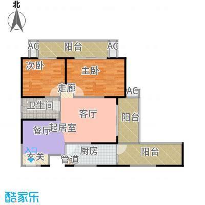 曲江城市花园93.95㎡户型