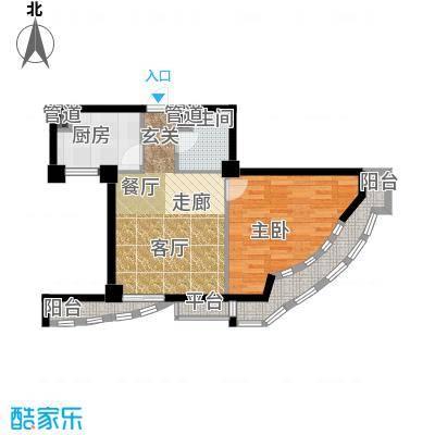 航天星苑58.33㎡房型户型