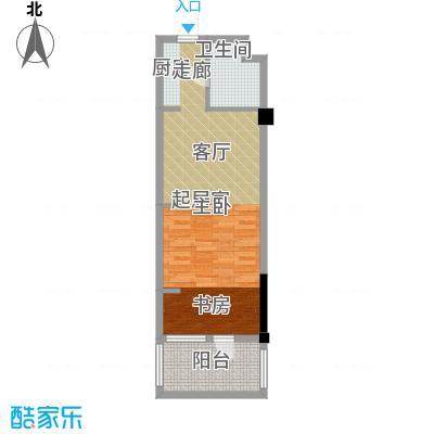 亚泰桂花苑62.00㎡迷你洋房户型