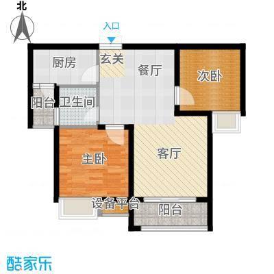 重庆金山美林58.33㎡一期1号楼标准层47号户型