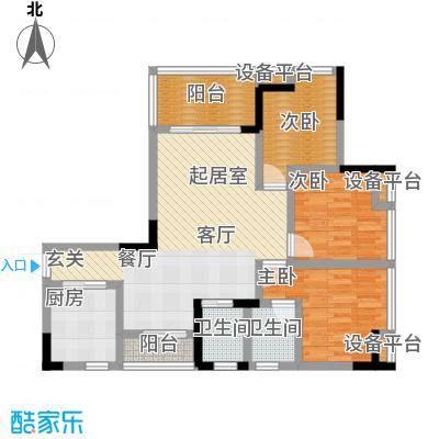 斌鑫中央时代112.32㎡房型户型