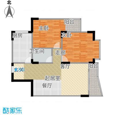 嘉新桃花里81.40㎡房型户型