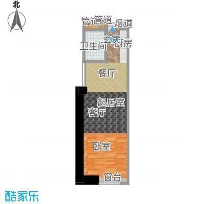 敏捷国际公寓71.00㎡814单元户型