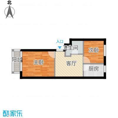 新港假日户型2室1厅1卫1厨