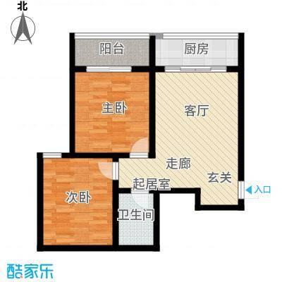 清水澜庭84.58㎡B1户型