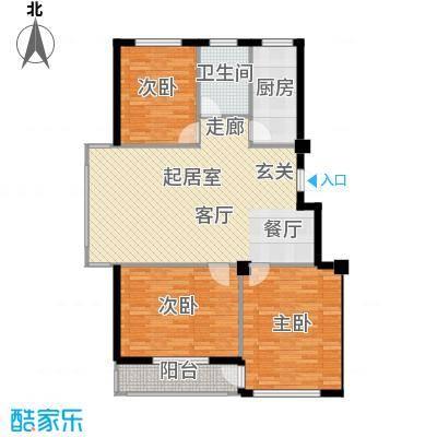 福佳华东人家104.00㎡户型