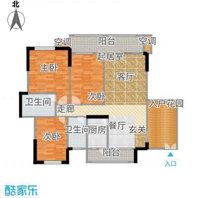 雍禾苑・康帕利小镇122.89㎡7号楼03单元户型