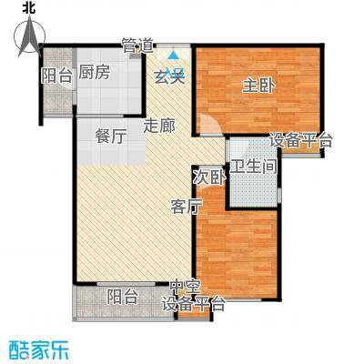 阳光新城三期户型2室1厅1卫1厨
