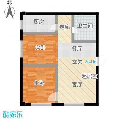 万丰王子公寓60.00㎡房型户型