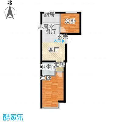 千缘爱语城67.00㎡H户型