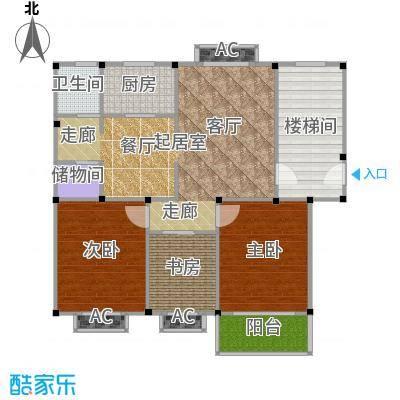 观滁新苑户型3室1卫1厨