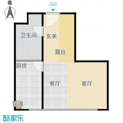 诚基中心50.00㎡LOFT户型