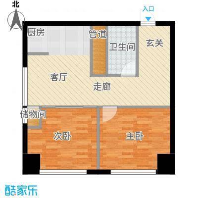 SR国际新城一期户型2室1卫
